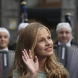 La Princesa Leonor saludando en los Premios Princesa de Asturias 2019