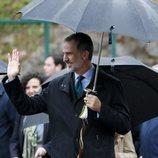 El Rey Felipe VI saludando a su llegada a Asiegu, Pueblo Ejemplar 2019