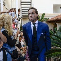 Feliciano López en la boda entre Rafa Nadal y Xisca Perelló