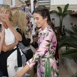 Sandra Gago acudiendo a la boda entre Rafa Nadal y Xisca Perelló