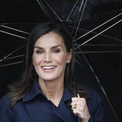 La Reina Letizia durante su visita a Asiegu, Premio Pueblo Ejemplar de Asturias 2019