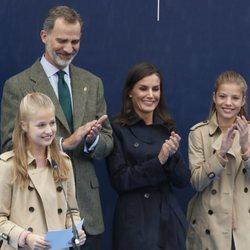 La Princesa Leonor dando su discurso en el acto de entrega del Premio Pueblo Ejemplar de Asturias 2019