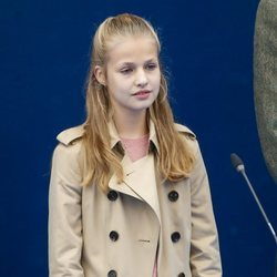 La Princesa Leonor durante el acto de entrega del Premio Pueblo Ejemplar de Asturias 2019
