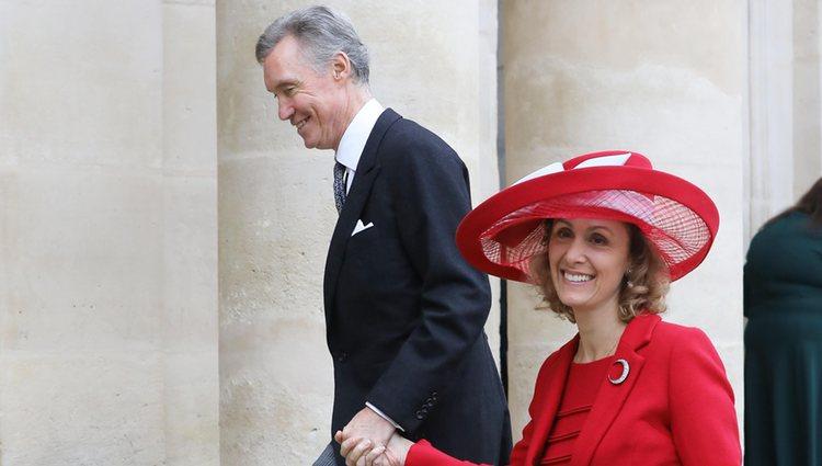 Los Príncipes Guillermo de Luxemburgo y Sibilla Weiller en la boda de Jean Christophe Napoleón