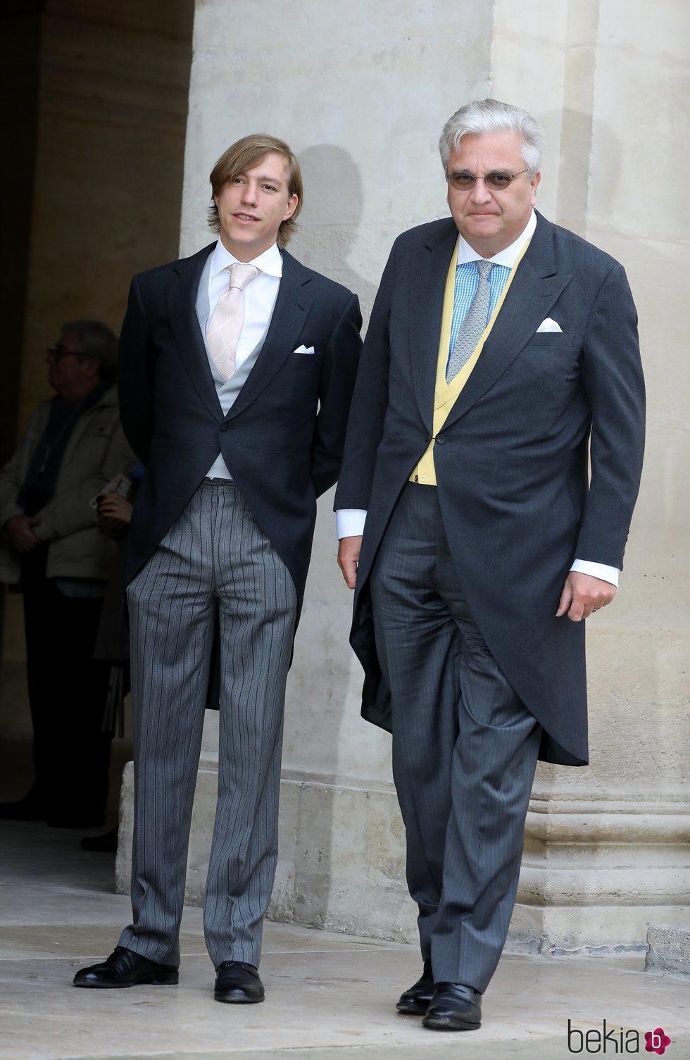 Los Príncipes Luis de Luxemburgo y Laurent de Bélgica han acudido juntos al enlace de Christophe Napoleón