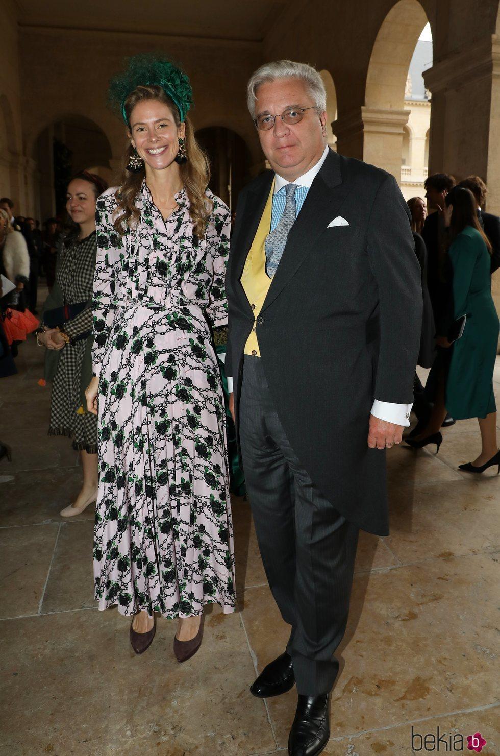 El Príncipe Laurent de Bélgica y la Princesa María Anunciata en la boda de Christophe Napoleón