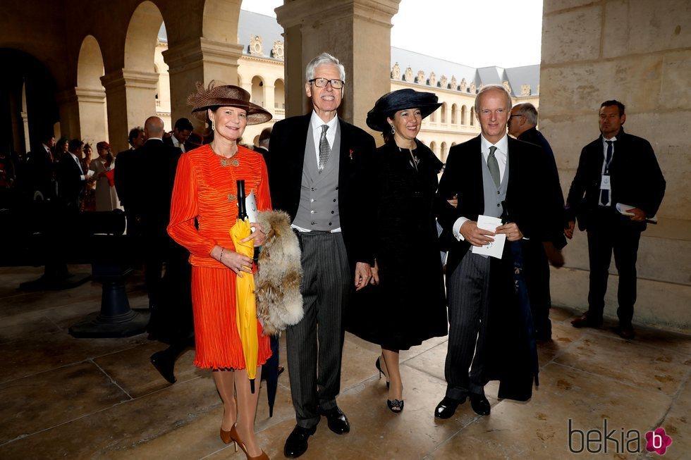 Las Princesas Margarita de Luxemburgo y María de Borbón-Dos Sicilias junto al Príncipe Nicolás de Liechtenstein y el Archiduque Simeón de Austria