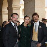 Los Príncipes Félix y Clara de Luxemburgo en la boda de Jean Christophe Napoleón