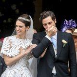 Jean Christophe Napoleón y la Condesa Olympia de Austria en el día de su boda