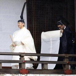 Naruhito de Japón en uno de los actos de su entronización