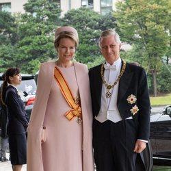 Felipe y Matilde de Bélgica en la entronización de Naruhito de Japón