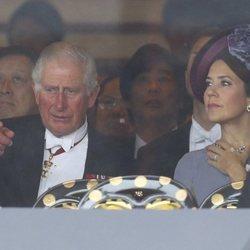 El Príncipe Carlos y Mary de Dinamarca en la entronización de Naruhito de Japón