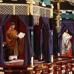Naruhito y Masako de Japón en la entronización de Naruhito de Japón