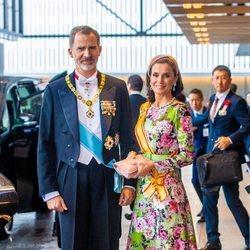 Los Reyes Felipe y Letizia en la entronización de Naruhito de Japón
