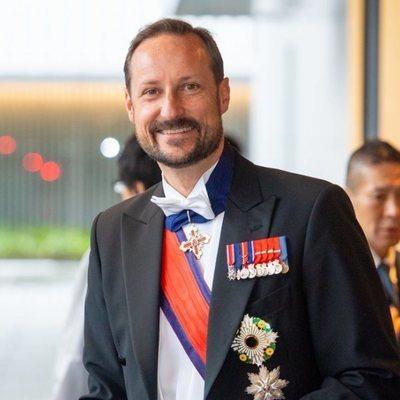 Haakon de Noruega en la entronización de Naruhito de Japón