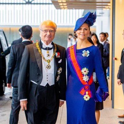 Carlos Gustavo de Suecia y Victoria de Suecia en la entronización de Naruhito de Japón