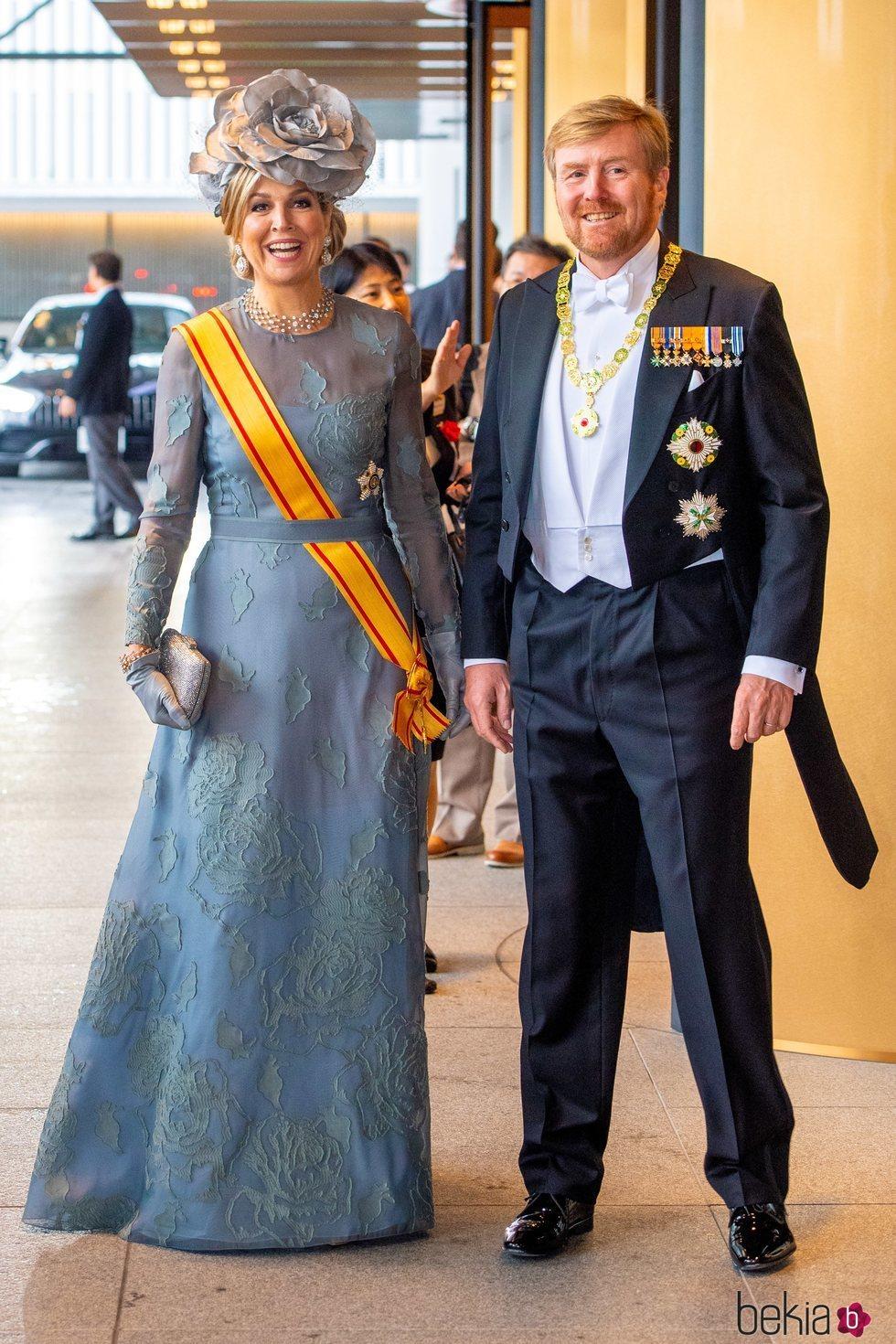 Guillermo Alejandro y Máxima de Holanda en la entronización de Naruhito de Japón