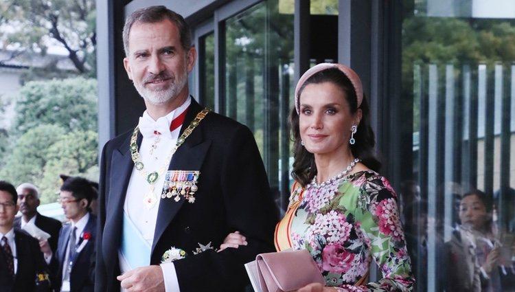 El Rey Felipe y la Reina Letizia en la entronización de Naruhito de Japón