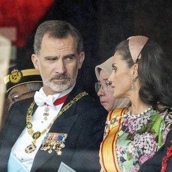 Los Reyes Felipe y Letizia durante la ceremonia de entronización de Naruhito de Japón