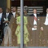 Los Reyes de Holanda, el Gran Duque de Luxemburgo, Alberto de Mónaco y Matilde de Bélgica en la entronización de Naruhito de Japón