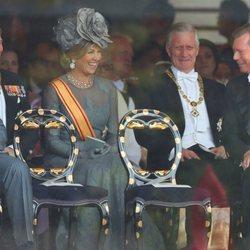 Guillermo Alejandro y Máxima de Holanda, Felipe de Bélgica y Enrique de Luxemburgo en la entronización de Naruhito de Japón