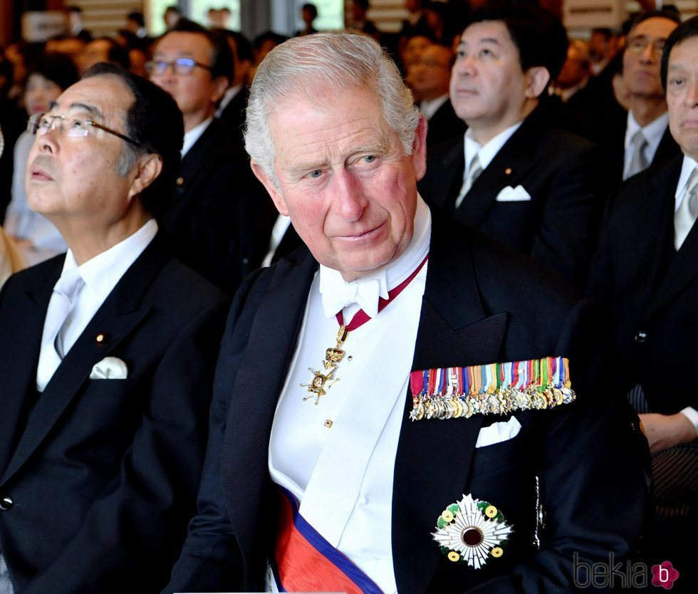 El Príncipe Carlos en la ceremonia de entronización de Naruhito de Japón