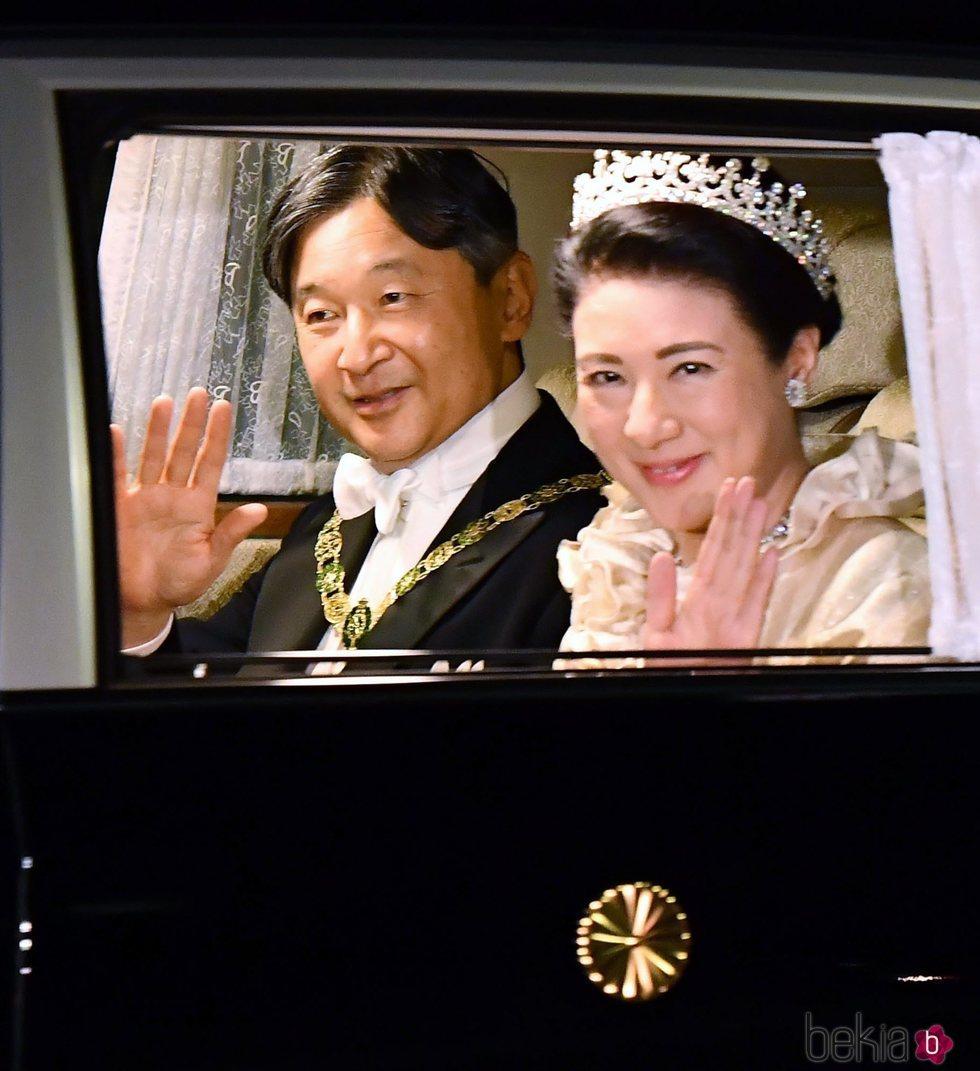 Naruhito y Masako de Japón en la cena de gala por la entronización de Naruhito de Japón