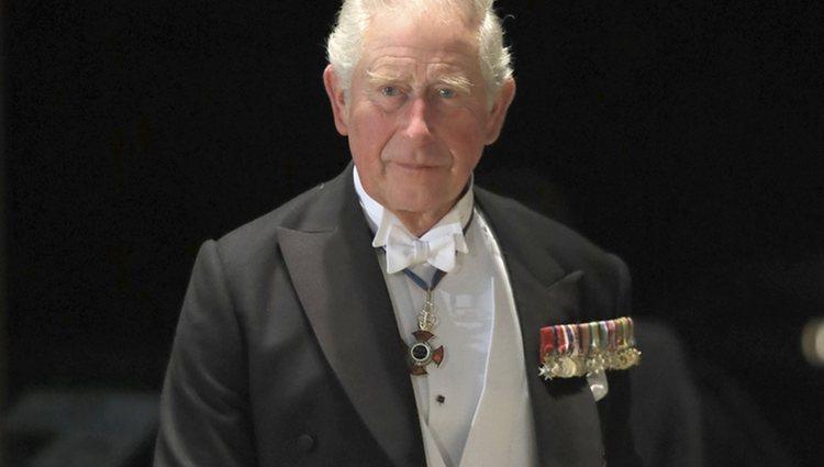 El Príncipe Carlos en la cena por la entronización de Naruhito de Japón