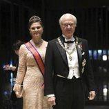 Carlos Gustavo de Suecia y Victoria de Suecia en la cena por la entronización de Naruhito de Japón