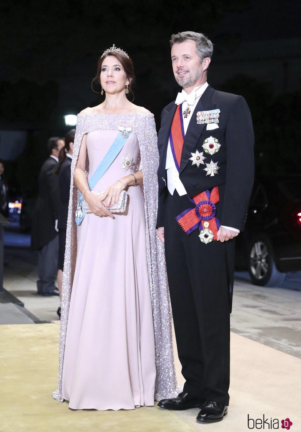 Federico y Mary en la cena por la entronización de Naruhito de Japón