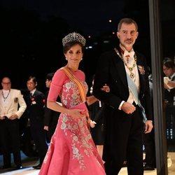 Los Reyes Felipe y Letizia en la cena por la entronización de Naruhito de Japón