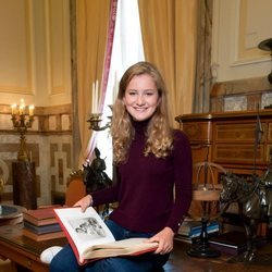 Isabel de Bélgica en el despacho de Felipe de Bélgica