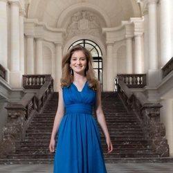 Isabel de Bélgica en el Palacio de Laeken con motivo de su 18 cumpleaños