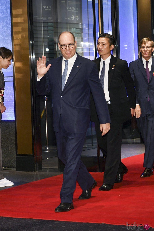 Alberto de Mónaco en el banquete organizado por la entronización de Naruhito de Japón