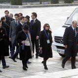 La familia Franco en el Valle de los Caídos para la exhumación de Franco