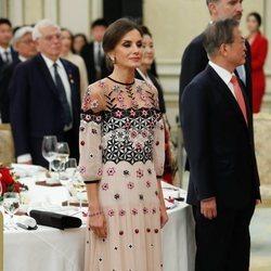 La Reina Letizia en la cena de gala en su Visita de Estado a Corea del Sur