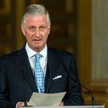 Felipe de Bélgica pronuncia un discurso en el 18 cumpleaños de Isabel de Bélgica