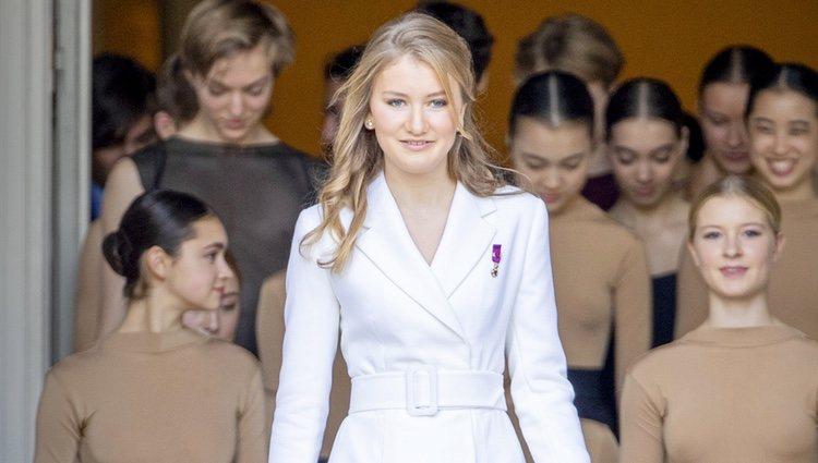 Isabel de Bélgica en su 18 cumpleaños