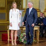 Isabel de Bélgica con Felipe de Bélgica, en su 18 cumpleaños