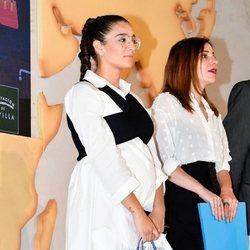 Alma Cortés luciendo tripita en la Feria de la Moda de Sevilla