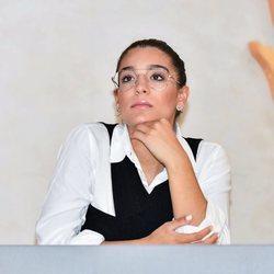 Alma Cortés de jurando en la Feria de la Moda de Sevilla