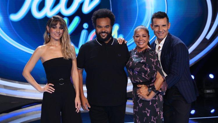 Edurne, Carlos Jean, Isabel Pantoja y Jesús Vázquez en la la presentación de 'Idol Kids'