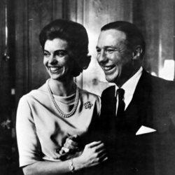 La Princesa Margarita de Suecia y John Ambler el día de su compromiso