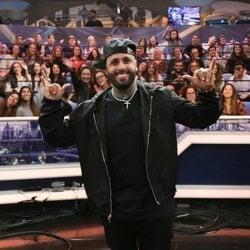 Nicky Jam con el público de 'El Hormiguero'
