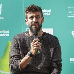 Gerard Piqué en un evento a favor del medio ambiente en Callao