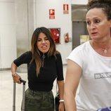 Chabelita Pantoja y Ducle en el aeropuerto de Madrid tras su regreso de Dubai