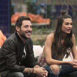 Antonio David Flores y Estela Grande durante la gala 9 de 'GH VIP 7'