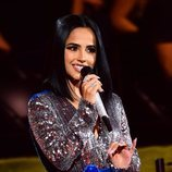 Becky G durante un momento de la gala de los MTV EMAs 2019