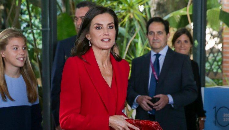 La Reina Letizia en la recepción a los galardonados en los Premios Princesa de Girona 2019