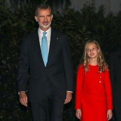 El Rey Felipe y la Princesa Leonor a su llegada a los Premios Princesa de Girona 2019